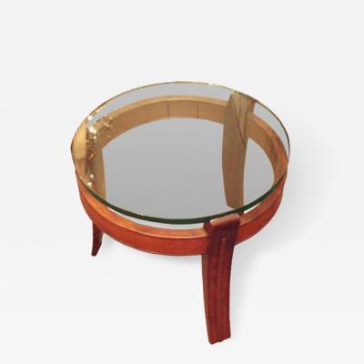 Fontana Arte A Mahogany and Glass Occasional Table by Fontana Arte