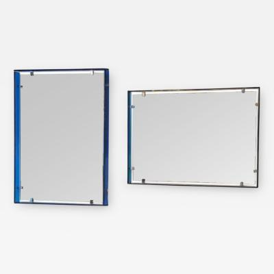 Fontana Arte A Matched Pair of Mid Century Wall Mirrors by Fontana Arte