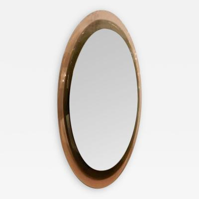 Fontana Arte A Multi Level Oval Wall Mirror by Fontana Arte