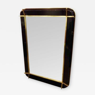 Fontana Arte A Rare Wall Mirror in Resin and Bronze in the style of Fontana Arte