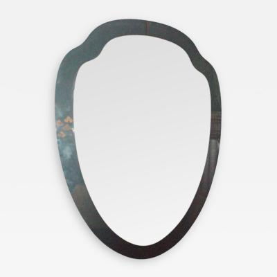 Fontana Arte A Shield Shaped Wall Mirror in the style of Fontana Arte
