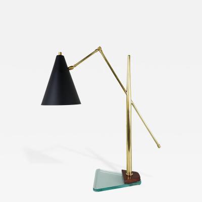 Fontana Arte Architectural Italian Desk Lamp in the Style of Fontana Arte