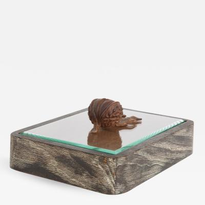 Fontana Arte Box in Limed Wood and Glass