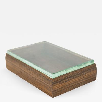 Fontana Arte Box in wood and glass by Fontana Arte circa 1940