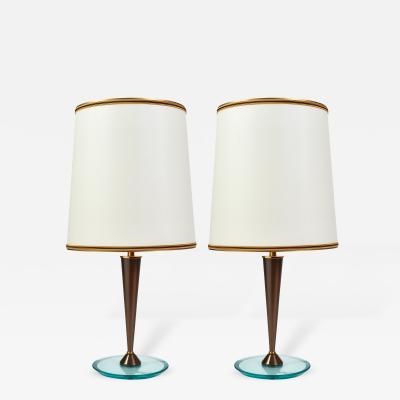 Fontana Arte Elegant Pair of Italian 1950s Table Lamps