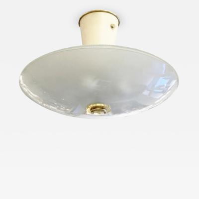 Fontana Arte Elliptical Light Fixture in the Manner of Fontana Arte