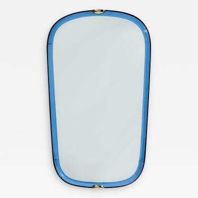 Fontana Arte Fontana Arte Blue Glass Mirror Italy 1950s