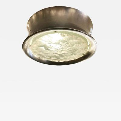 Fontana Arte Fontana Arte Chiseled Glass Flush Mount Model 2464