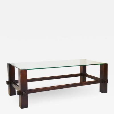 Fontana Arte Fontana Arte Coffee Table Model 2461 in Wood and Glass