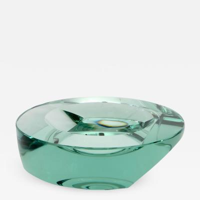 Fontana Arte Fontana Arte Italian Beveled Glass Vide Poche Bowl