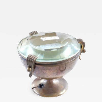 Fontana Arte Fontana Arte Italian Classic Goblet Brass Table Lamp 1940s