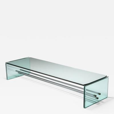 Fontana Arte Fontana Arte Large Glass Coffee Table 1970s