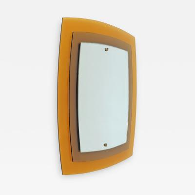 Fontana Arte Fontana Arte Mod 2180 Yellow and Orange Wall Mirror Italy 1960s