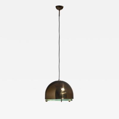 Fontana Arte Fontana Arte N 2409 pendant lamp with thick green glass diffuser