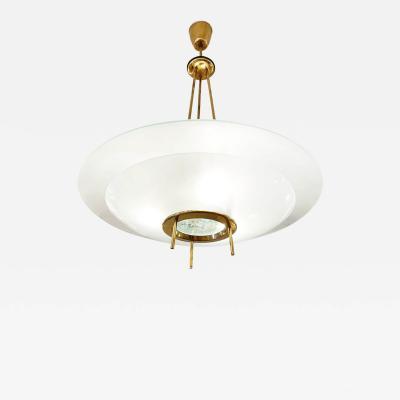 Fontana Arte Fontana Arte Style Chandelier with Chiseled Glass