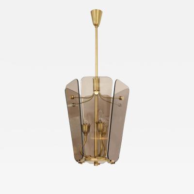 Fontana Arte Fontana Arte Style Smoked Glass Pendant