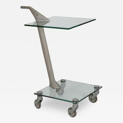 Fontana Arte Fontana Arte Two Tier Art Furniture Rolling Table