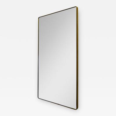 Fontana Arte Fontana Arte Wall Mirror with Brass Edge from 1950s