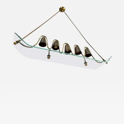 Fontana Arte Fontana Arte by Pietro Chiesa Superb Design 5 Lights Ski Chandelier