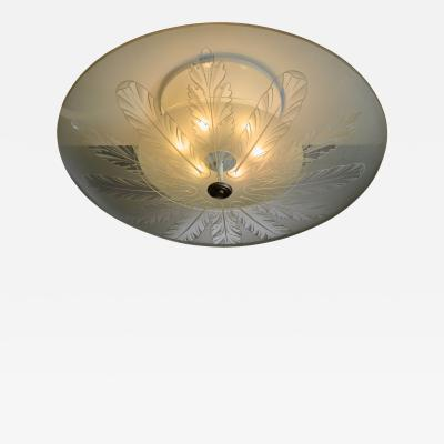 Fontana Arte Fontana Arte flush mount ceiling lamp