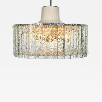 Fontana Arte Glass Drum Chandelier
