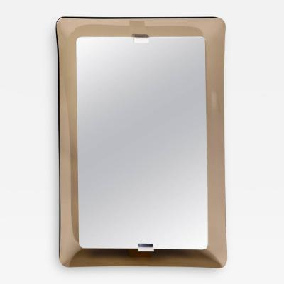 Fontana Arte Glass Framed Mirror Italy 1960s