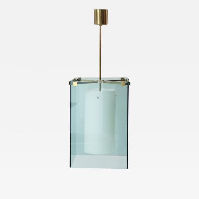 Fontana Arte Green Glass Lantern