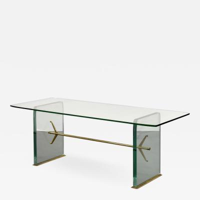 Fontana Arte Important Pietro Chiesa Glass Dining Table by Fontana Arte 1934
