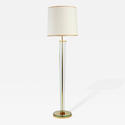 Fontana Arte Important Tripartite Glass Floor Lamp 1950s
