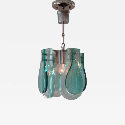 Fontana Arte Italian Modern Glass Chandelier