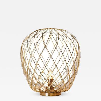 Fontana Arte Large Pinecone Table Lamp in Glass Metal for Fontana Arte