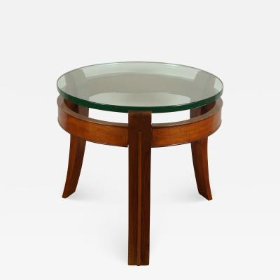 Fontana Arte Mahogany and Glass Occasional Table by Fontana Arte