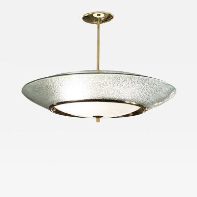 Fontana Arte Mid Century Chandelier in the Style of Fontana Arte