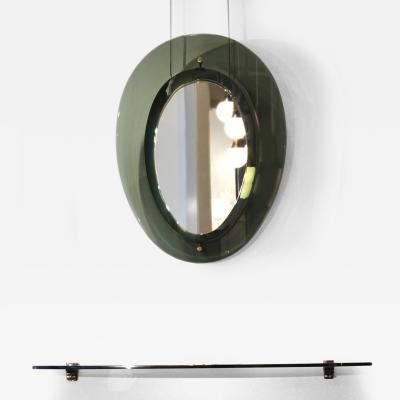 Fontana Arte Mirror and Shelf Console by Fontana Arte Italy Milan 1950s