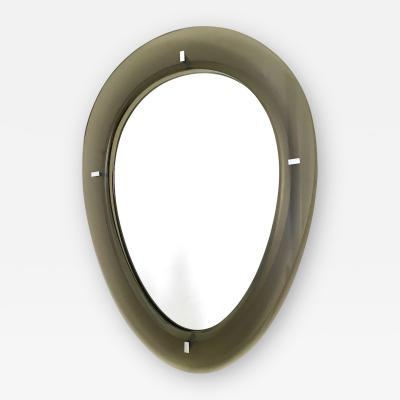 Fontana Arte Mirror with Beveled Glass Frame by Fontana Arte Italy 1950s