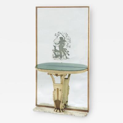 Fontana Arte Mirrored Console Table by Fontana Arte Italy Milan 1930s