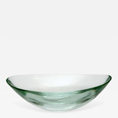 Fontana Arte Oval Glass Bowl by Fontana Arte