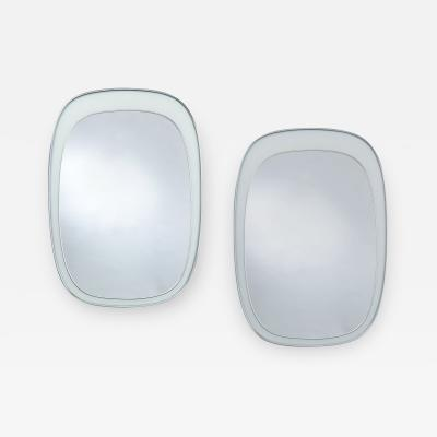 Fontana Arte Pair of Modernist Fontana Arte Mirrors 1960s