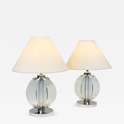 Fontana Arte Pair of elegant table lamps