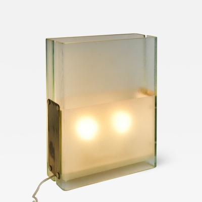Fontana Arte Table lamp in glass Fontana Arte designed in 50s