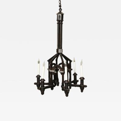 Forged Architectural Iron Chandelier