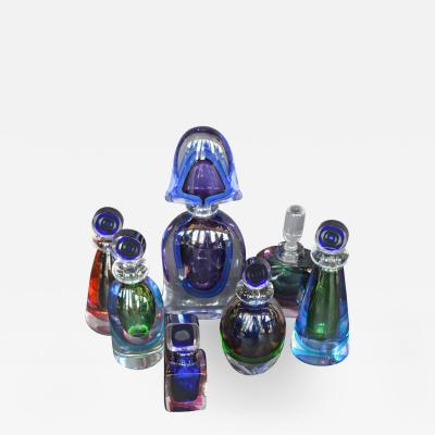 Formia Murano Collection of Seven Murano Glass Perfume Bottles
