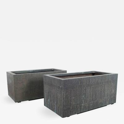 Forms Surfaces Architectural Cast Bronze Resin Planters by Forms and Surfaces