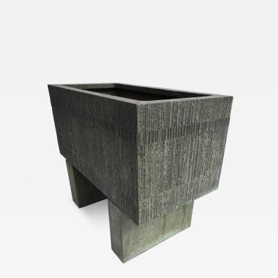 Forms Surfaces Forms and Surfaces Bronzed Fiberglass Planter with Optional Pedestal Legs