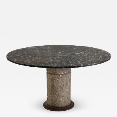 Fossil marble dining table Marocco 1970s