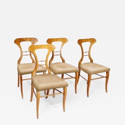 Four Biedermeier Side Chairs