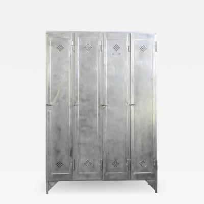 Four Door Industrial Lockers By Otto Kind Circa 1920s