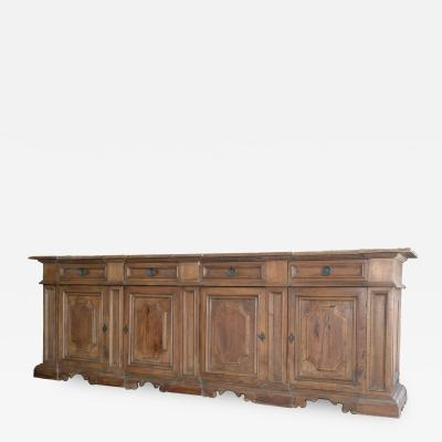 Four Door Tuscan Walnut Credenza