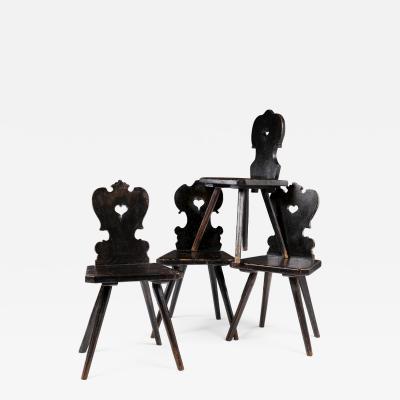 Four Folk Art Chairs