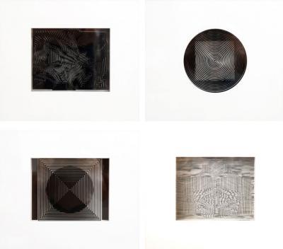 Four Framed Vasarely Prints CIN TIQUES